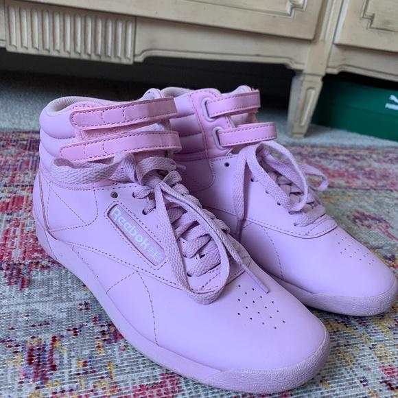 reebok purple sneakers